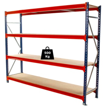 Longspan Racking Starter Bay (2000 x 600 x 1500mm)